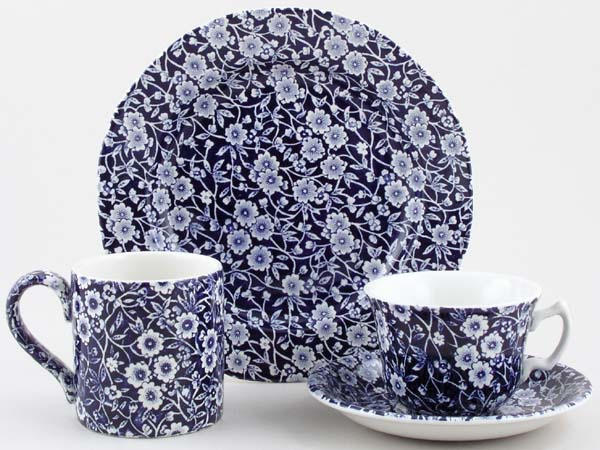 Blue Calico Complete Range & Burleigh Blue Calico u003e Home u003e Staffordshire China